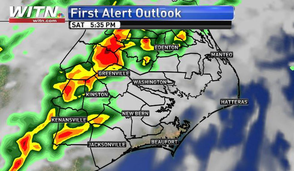 Saturday PM hefty storms