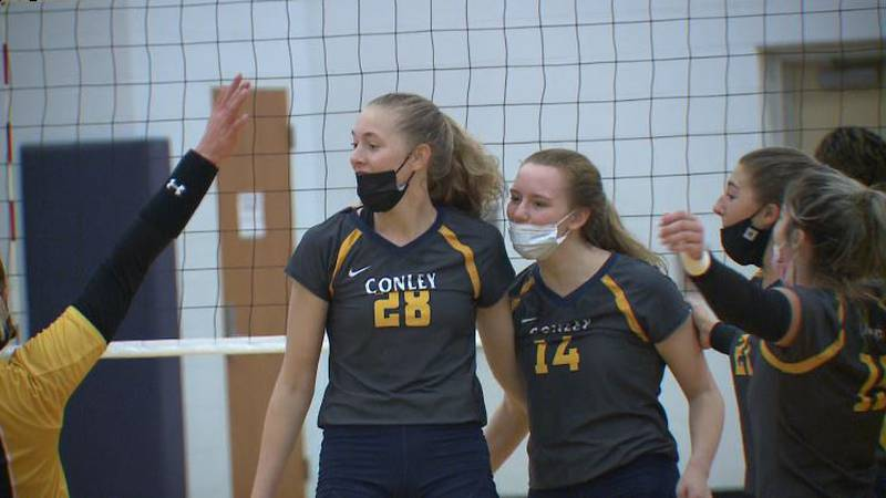 CONLEY AND ROSE ADVANCE IN THEIR STATE VOLLEYBALL TOURNAMENTS