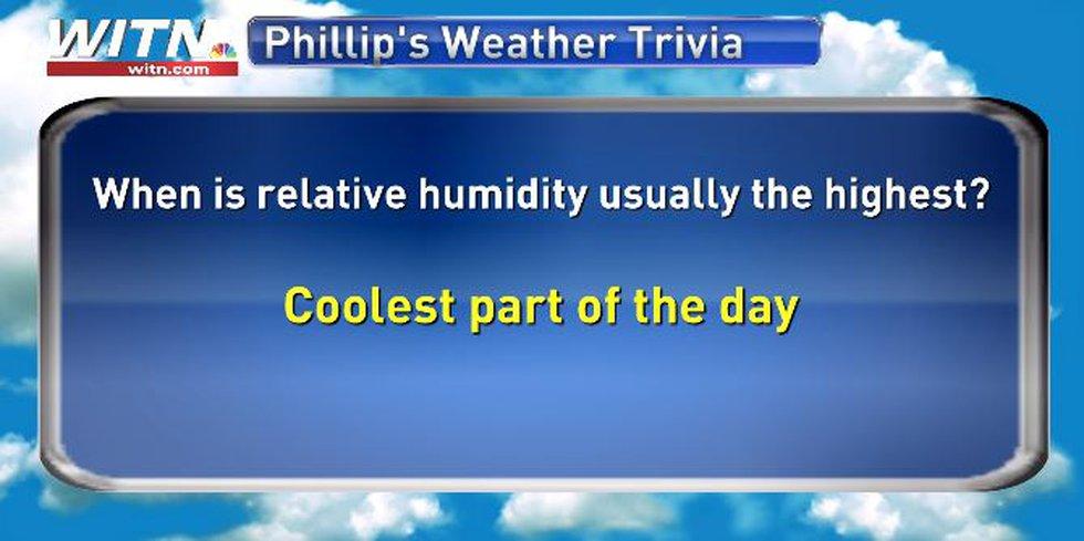 Phillip's Weather Trivia Answer June 7
