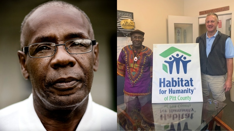Chester Newton is recognized by Habitat for Humanity of Pitt County