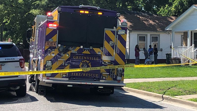 One person was shot in this Greenville street Friday afternoon.