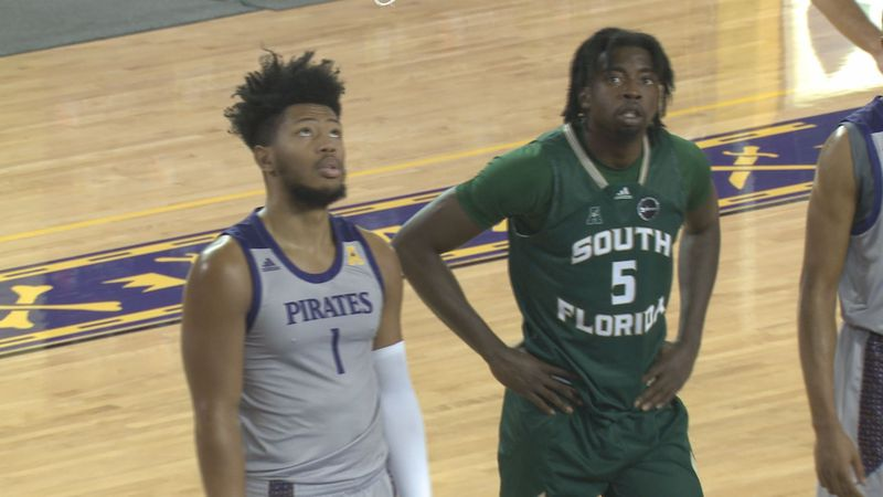 USF at ECU Basketball on Saturday, Jan. 9, 2021