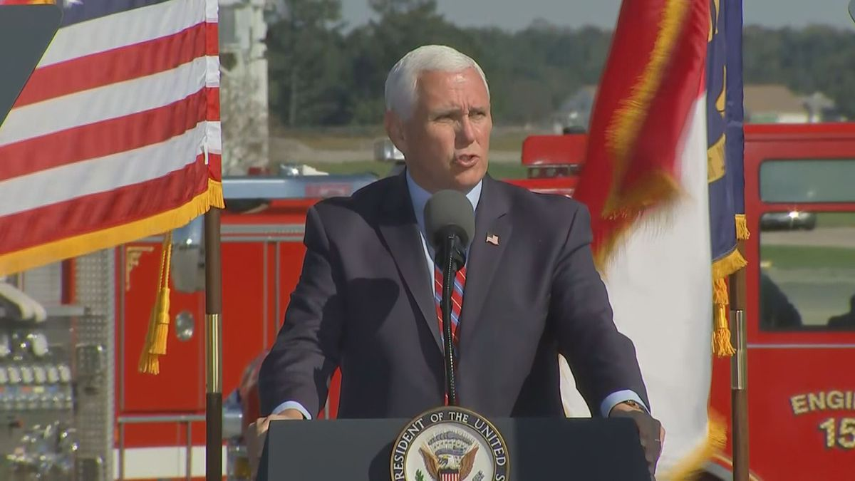 The vice president spoke to supporters in two North Carolina campaign stops Saturday.