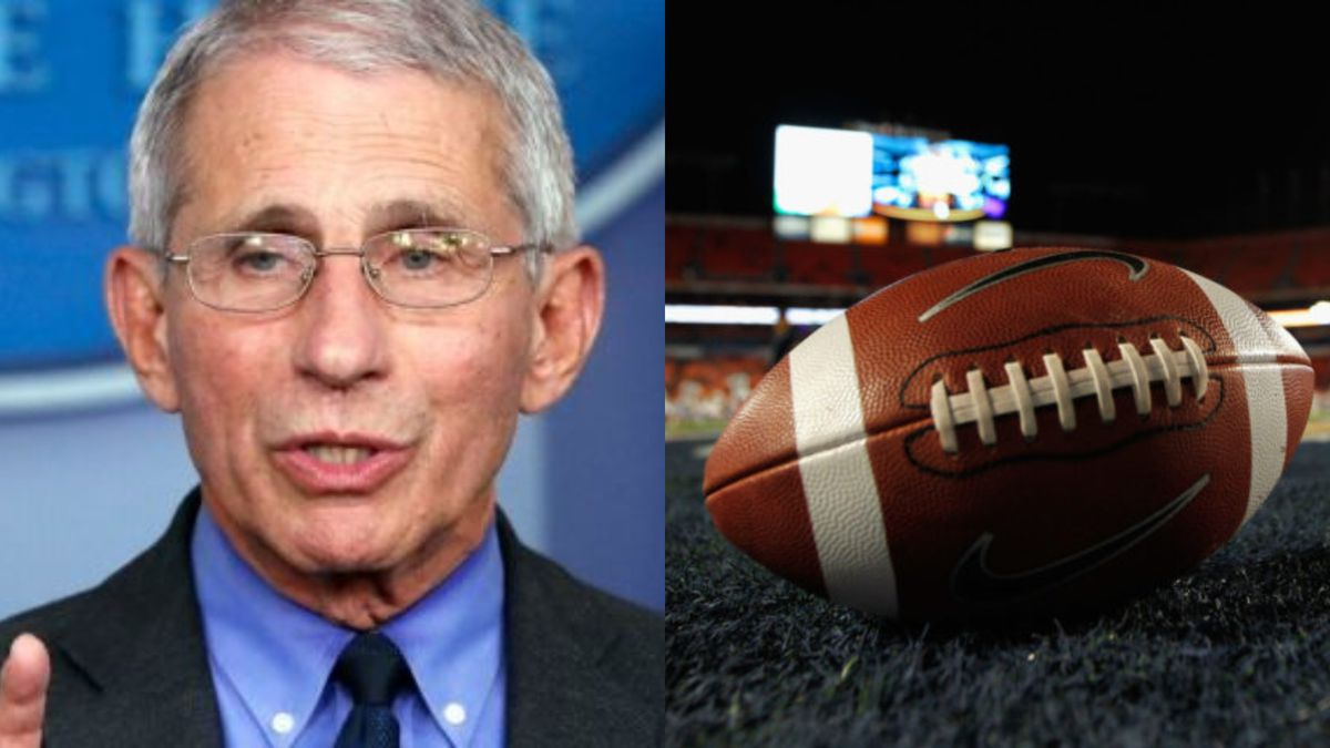 Football may not happen this fall after all. The warning comes from Dr. Anthony Fauci, director of the National Institute of Allergy and Infectious Diseases.