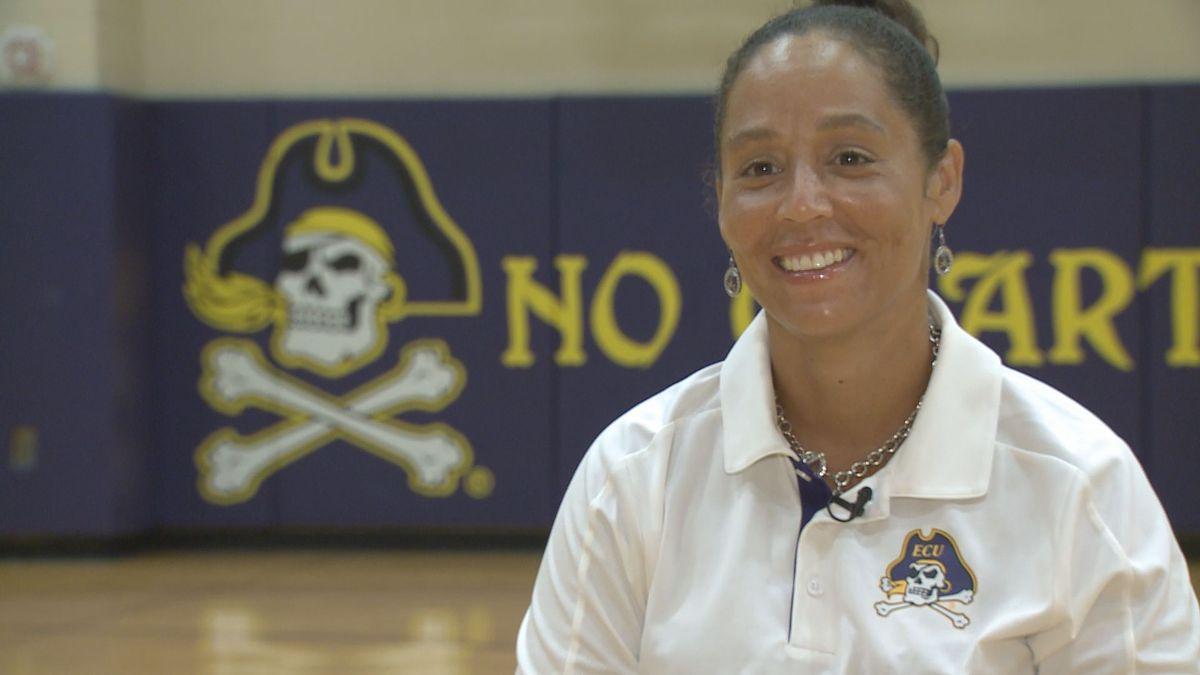 ECU women's basketball head coach Kim McNeill