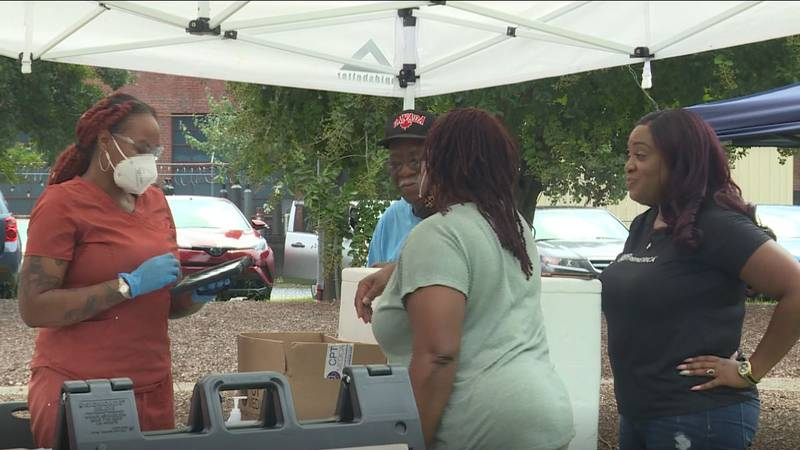 A few groups came together to host a community event in Kinston on Saturday.