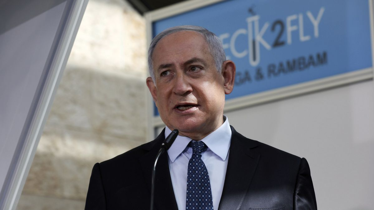 FILE - In this Nov. 9, 2020 file photo, Israeli Prime Minister Benjamin Netanyahu visits a new...