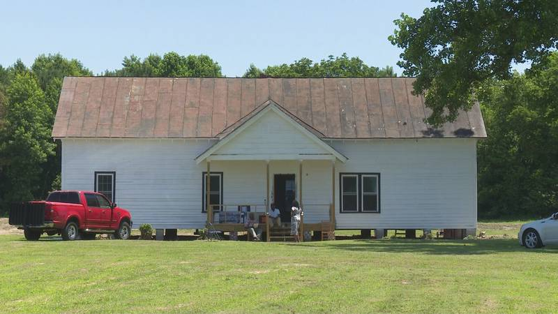One of three remaining Rosenwald Schools in Greene County is at Sauls Family Farm.