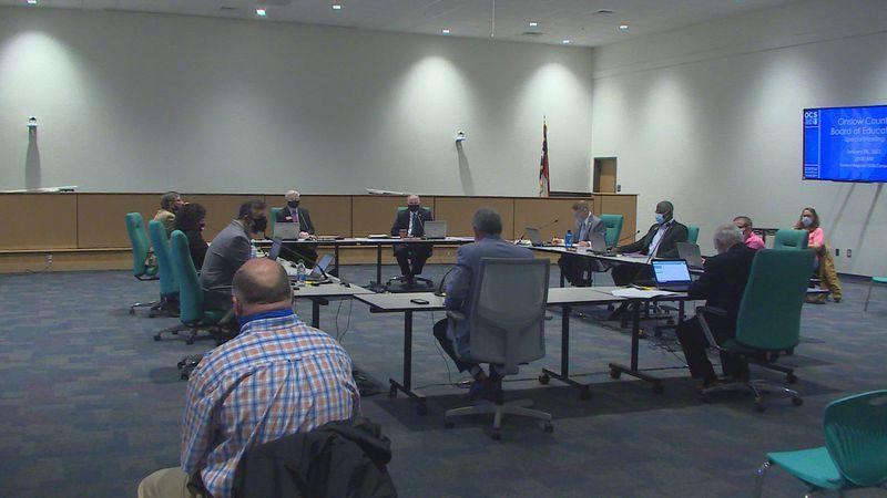Onslow School Board special meeting.
