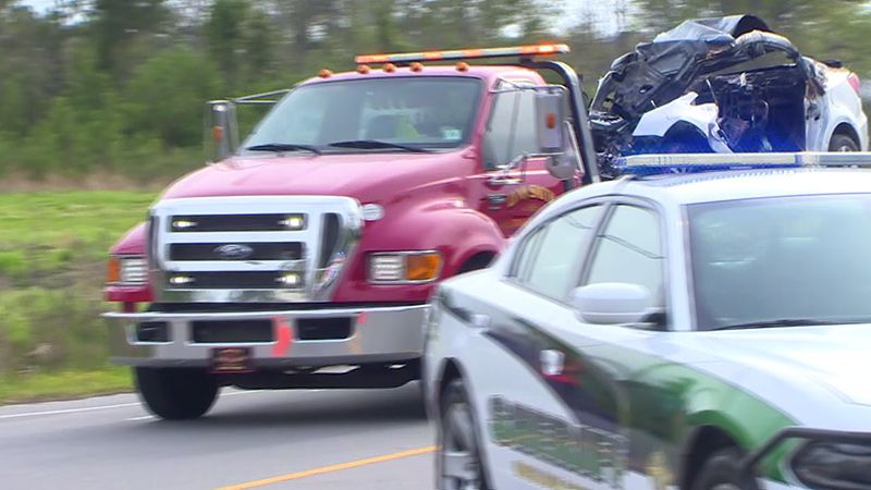 Troopers say charges are pending against a Sneads Ferry woman after a fiery crash on Friday...