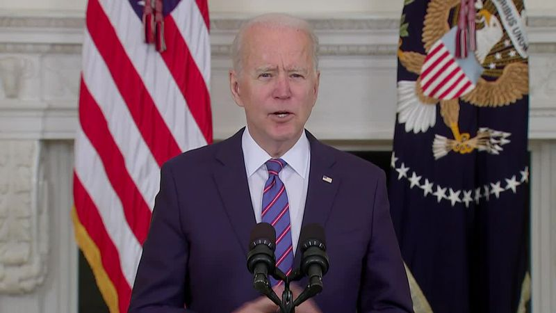 President Joe Biden says middle class Americans are helping to grow the economy.
