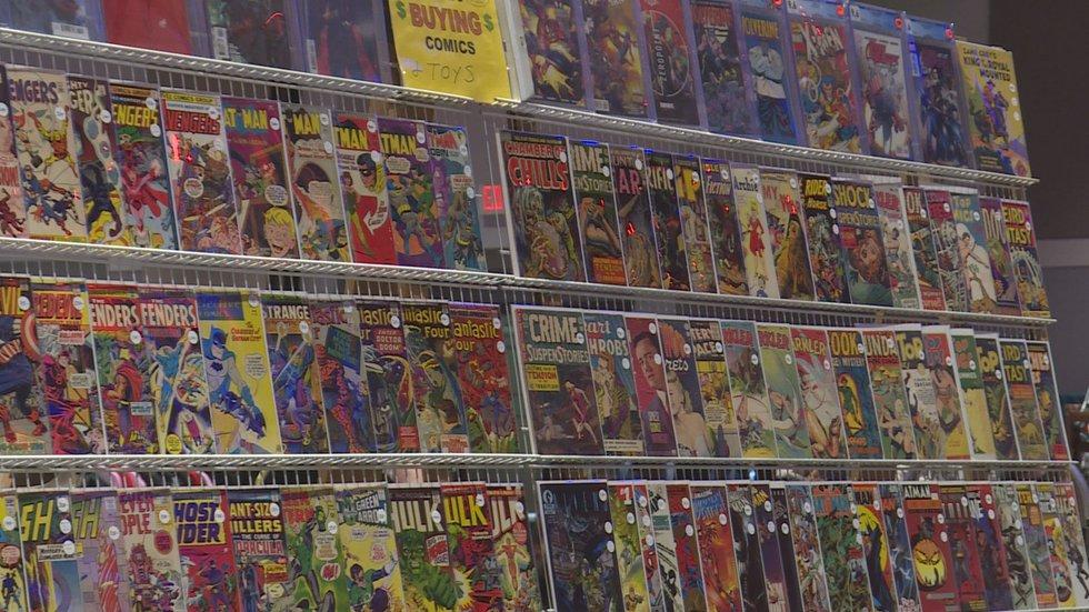 Comic wall at Greenville Comic Con