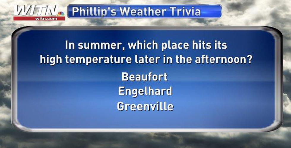 Phillip's Weather Trivia Question June 30