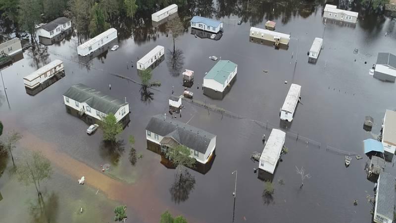 Jones County flooding.