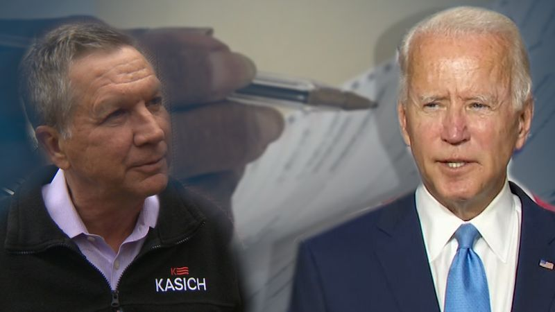 Gov. John Kasich (R-Ohio) backs presumptive 2020 Democratic Presidential Nominee Joe Biden.