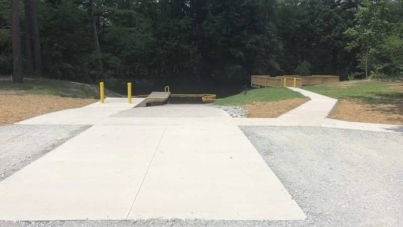 The boat ramp on Contentnea Creek is almost complete.