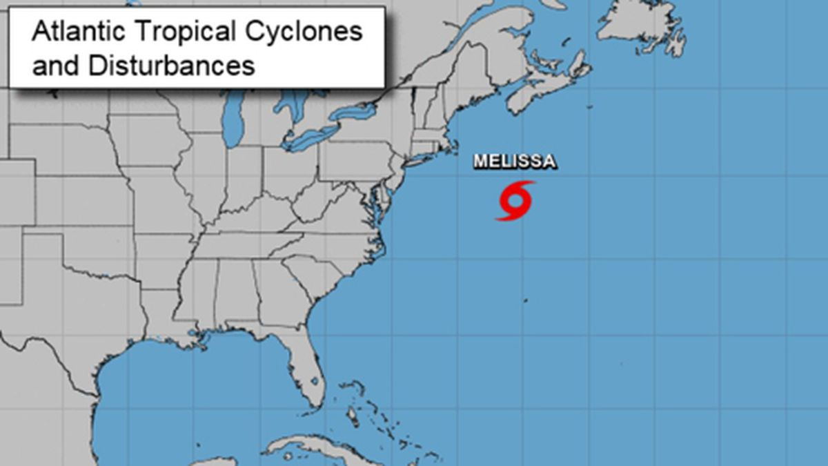 Tropical Storm Melissa formed in the Atlantic. (Source: National Hurricane Center)