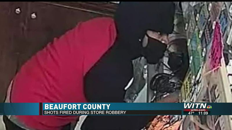 Shots fired during Beaufort County store robbery