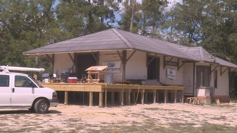 Pollocksville town hall and train station are expected to be back open next month.