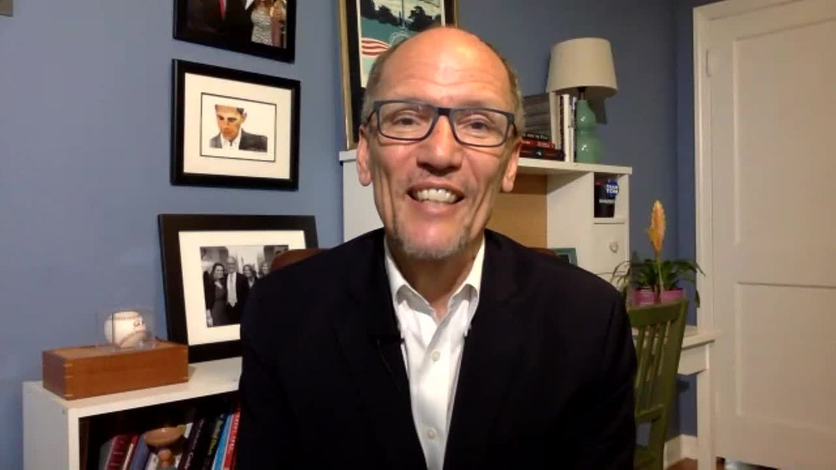 DNC Chair Tom Perez talks about Joe Biden's running mate decision. (Source: Gray DC)
