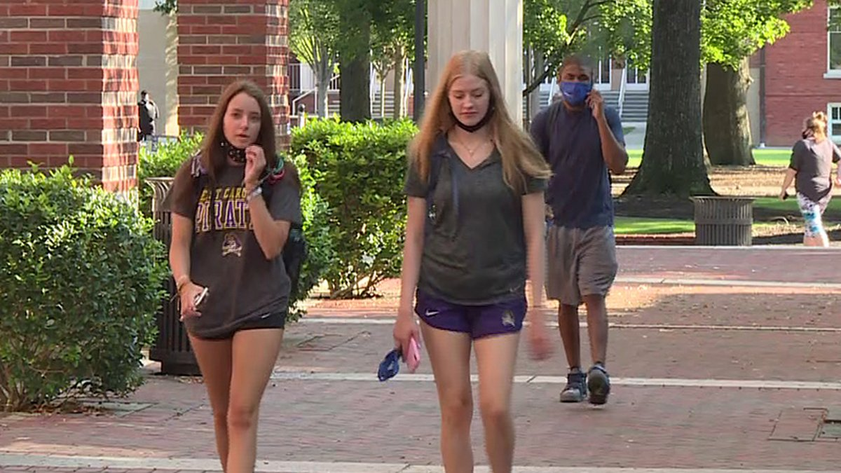 East Carolina University said there were 234 new cases of COVID-19 on campus last week.
