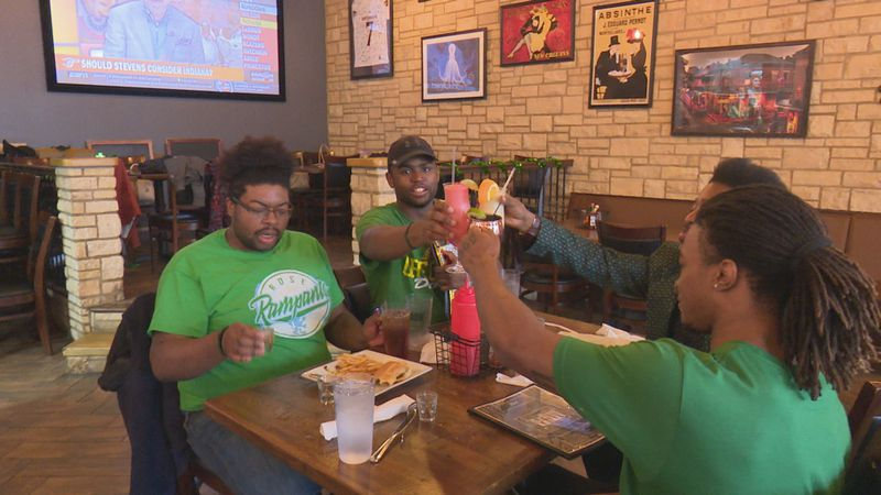 Residents and businesses celebrate St. Patrick's Day.