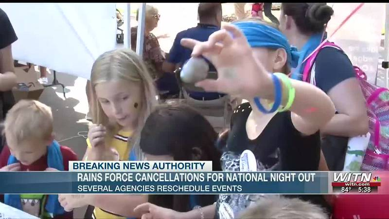 Some National Night Out activities delayed or canceled due to weather