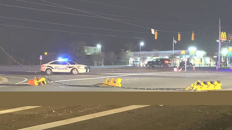 Hwy 11 in Ayden is closed for several hours after a utility pole was knocked down in a crash.