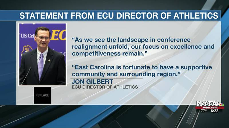 ECU's conference, the AAC, announcing 6 additions in response to trio leaving for Big 12