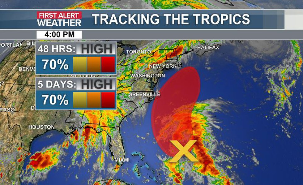 Areas of interest could be next named storms