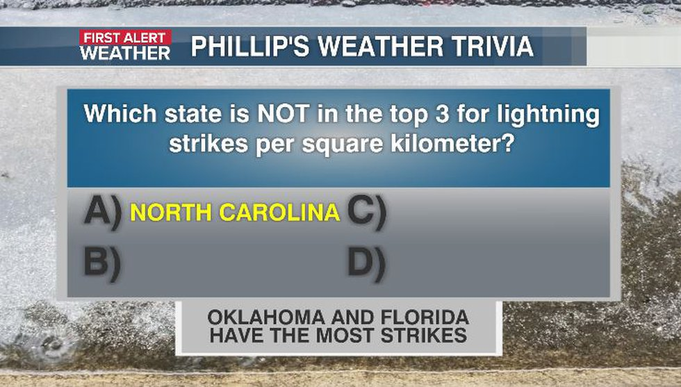 Phillip's Weather Trivia Answer Aug 18