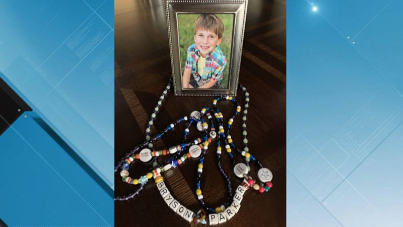 Bryson Parker, 12, received the Beads of Courage throughout his cancer journey.