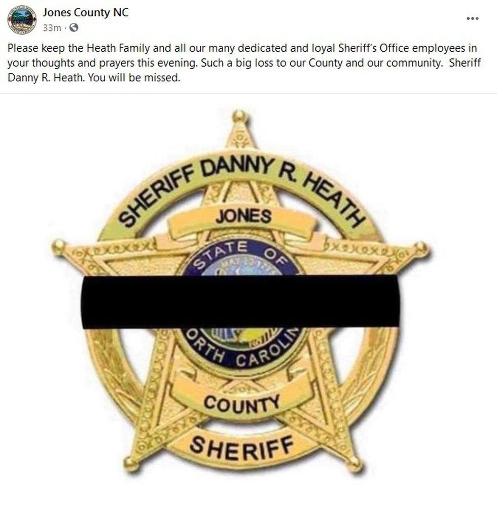 Jones Co. mourning death of Sheriff Danny Heath