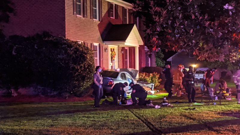 Early Friday morning a driver crashed into a home after reportedly running from police.