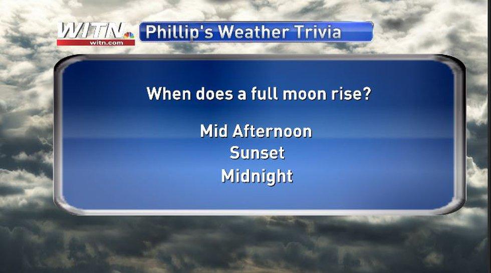Phillip's Weather Trivia Question June 23