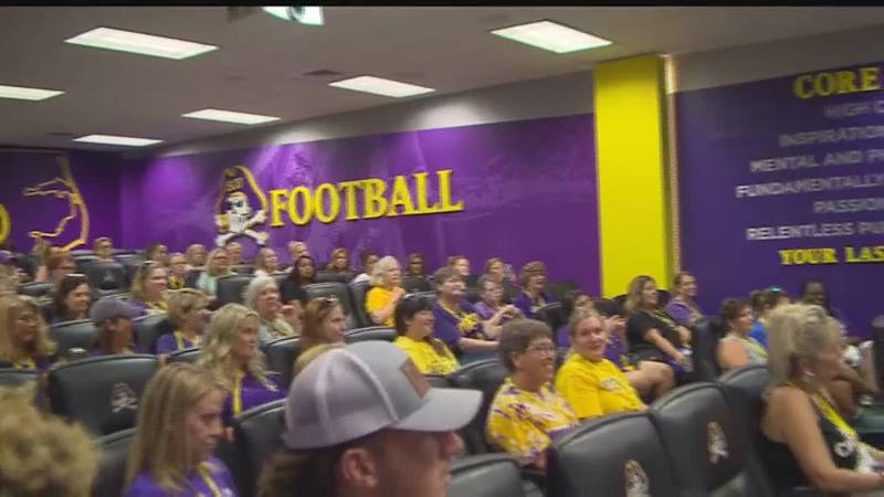 ECU football hosts Mike Houston Ladies Clinic to give female fans more knowledge and experience