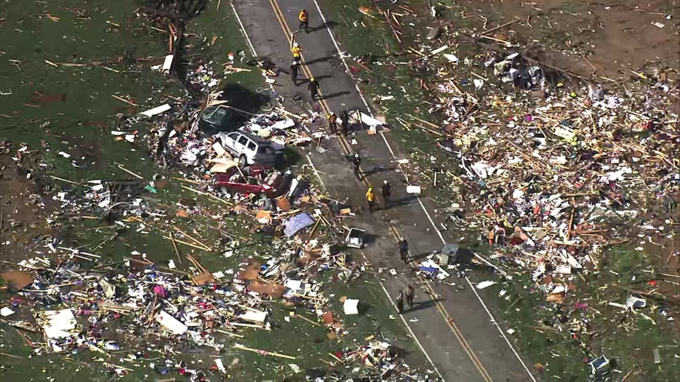 A possible tornado destroyed a Bertie Co. mobile home park.