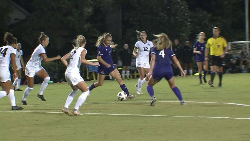 ECU women's soccer falls to UCF 2-0 in AAC match.