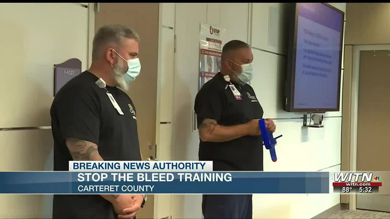 Carteret County students take part in Stop the Bleed camp