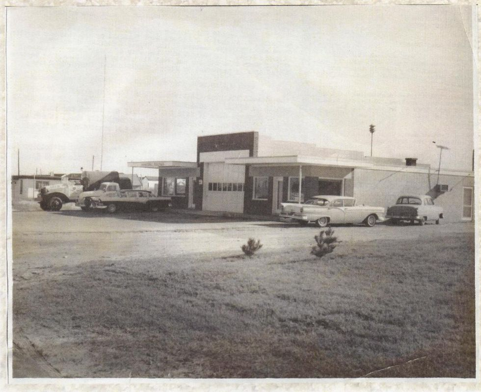 (L-R) Municipal Building, garage for the fire truck, and an ABC Store.