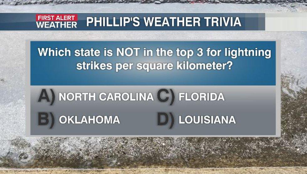 Phillip's Weather Trivia Question Aug 18