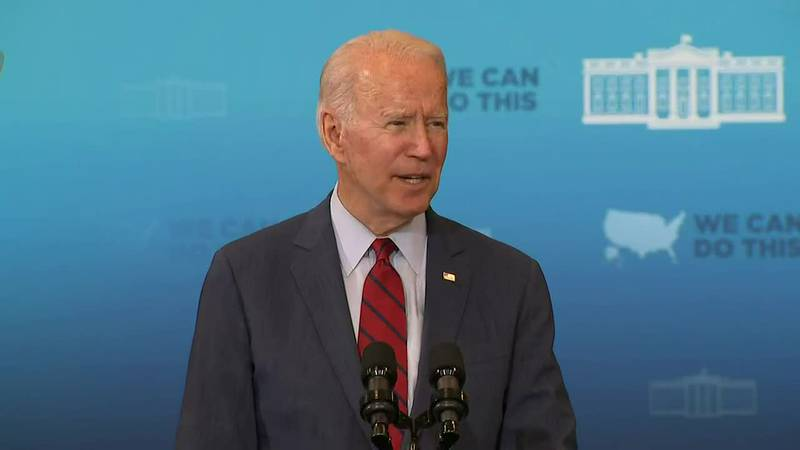 President Biden was at the Green Road Community Center in Raleigh, highlighting the ease of...