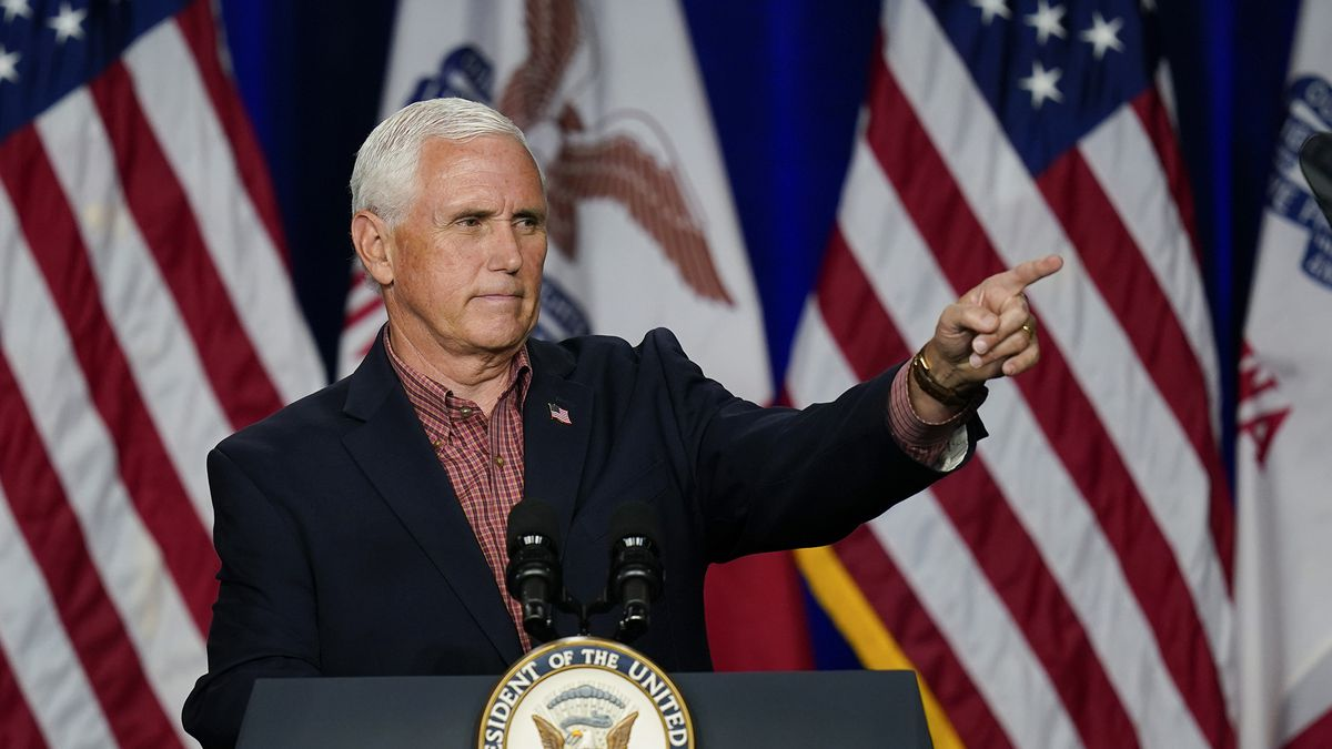 Vice President Mike Pence speaks during the Farmers & Ranchers for Trump Coalitions launch,...