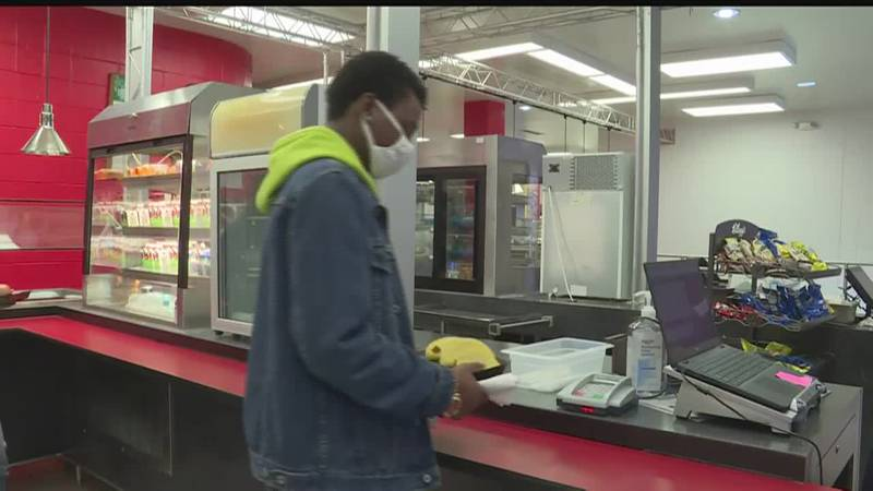 While going through the lunch line, New Bern High School students may notice a few changes.