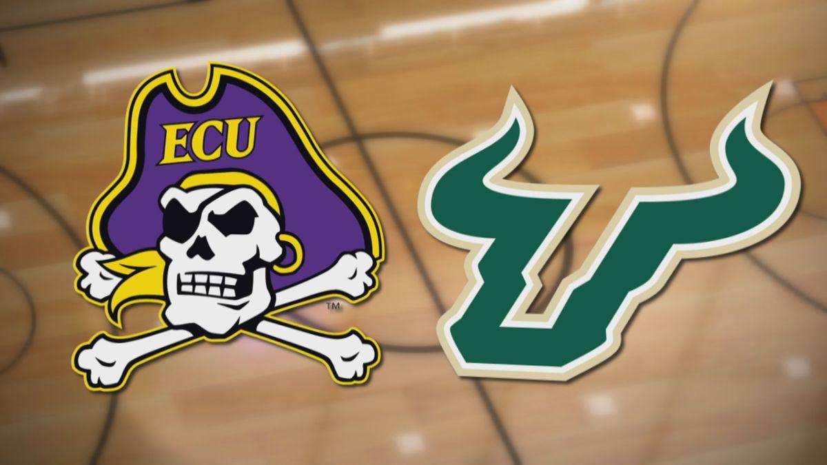 ECU Basketball at USF