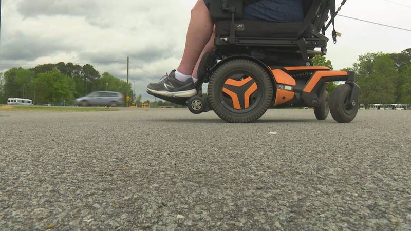 Father says there is a lack of wheelchair access at Farmville Central.