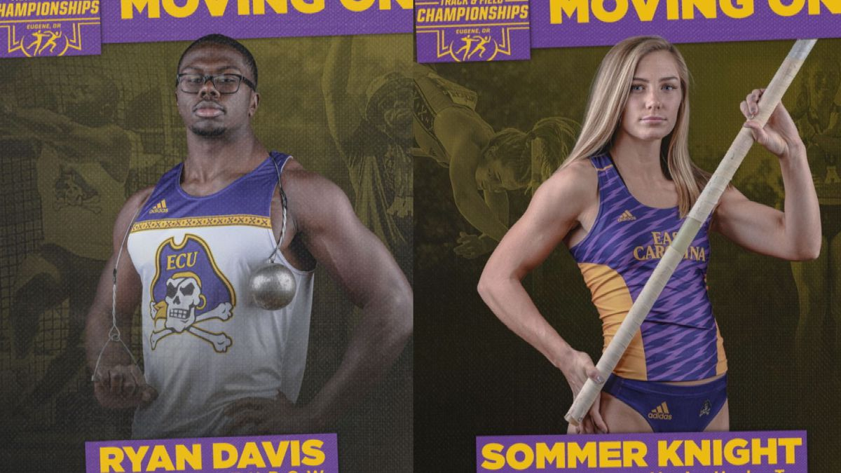 Ryan Davis and Sommer Knight ECU Track and Field