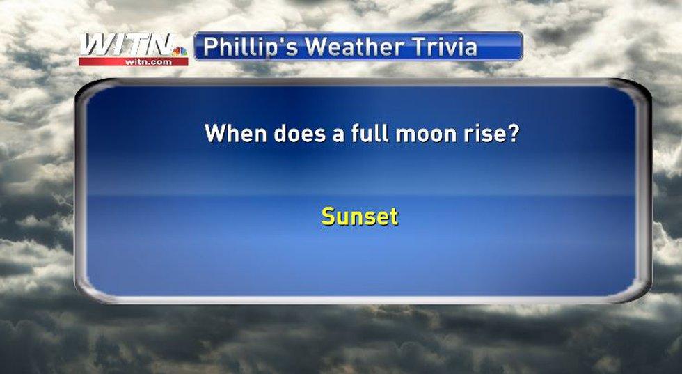 Phillip's Weather Trivia Answer June 23
