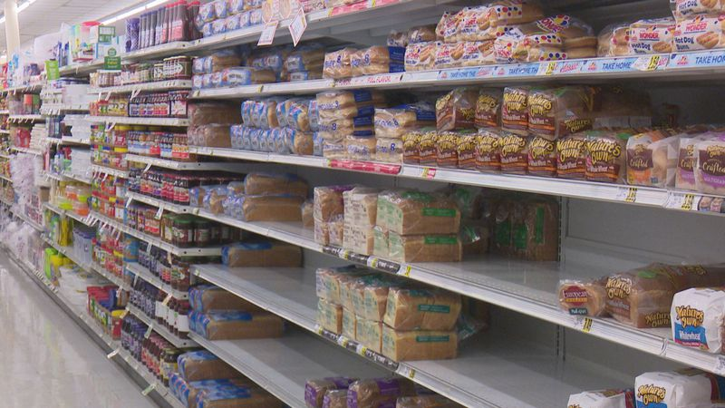 Shoppers typically stock up on bread, milk and toilet paper ahead of winter weather.