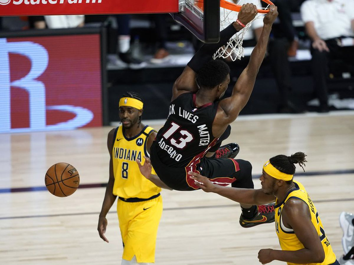 Bam Adebayo Scores 7 Points Heat Beat Pacers For 2 0 Series Lead